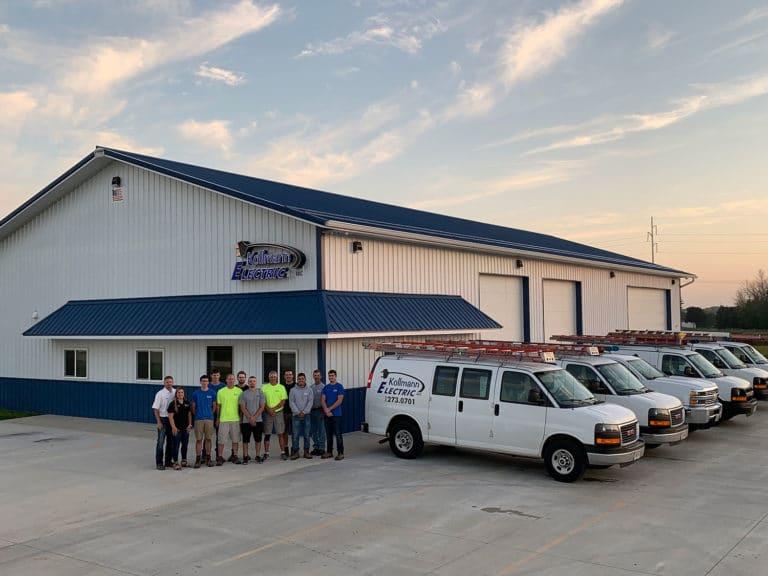 Kollmann Electric Crew and Fleet Outside Shop